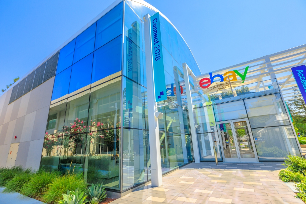 San Jose, California, Usa - August 12, 2018: Ebay Headquarters A